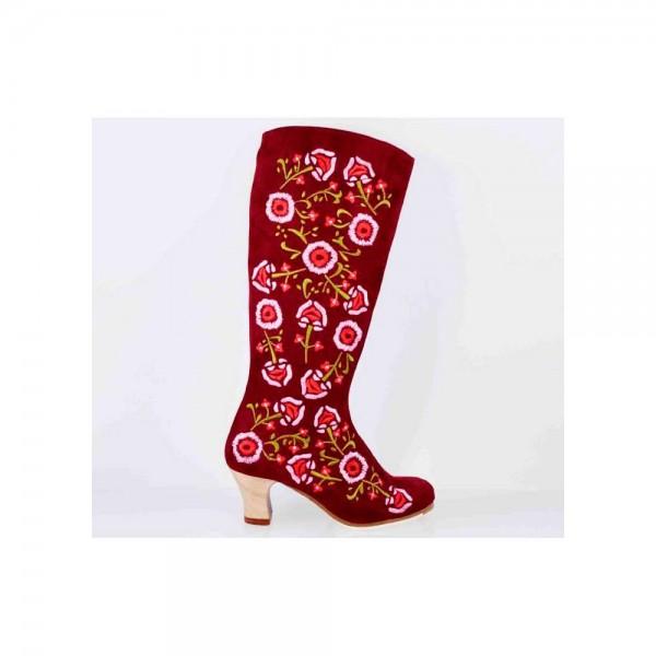 Zapato de flamenco. Modelo Chocolata