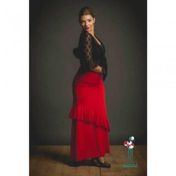 Falda de ensayo para baile flamenco. Modelo Bornos