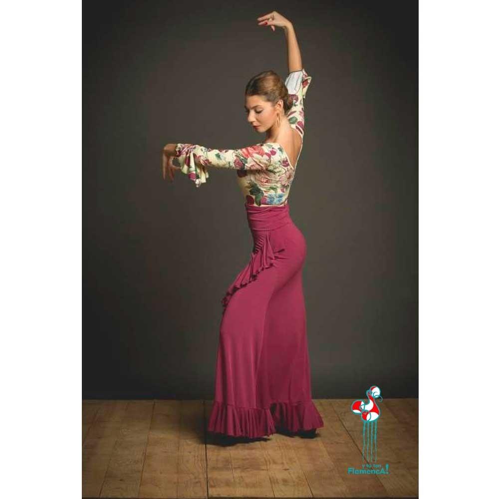 Falda de ensayo para baile flamenco. Modelo Valoria