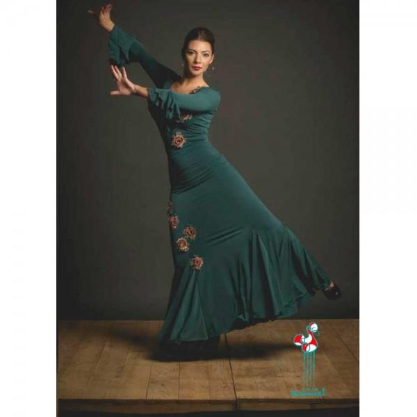 Falda de ensayo para baile de flamenco. Modelo Sardón