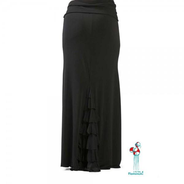 Falda flamenca de baile flamenco de uso profesional y ensayo. Andujar parte de atrás.