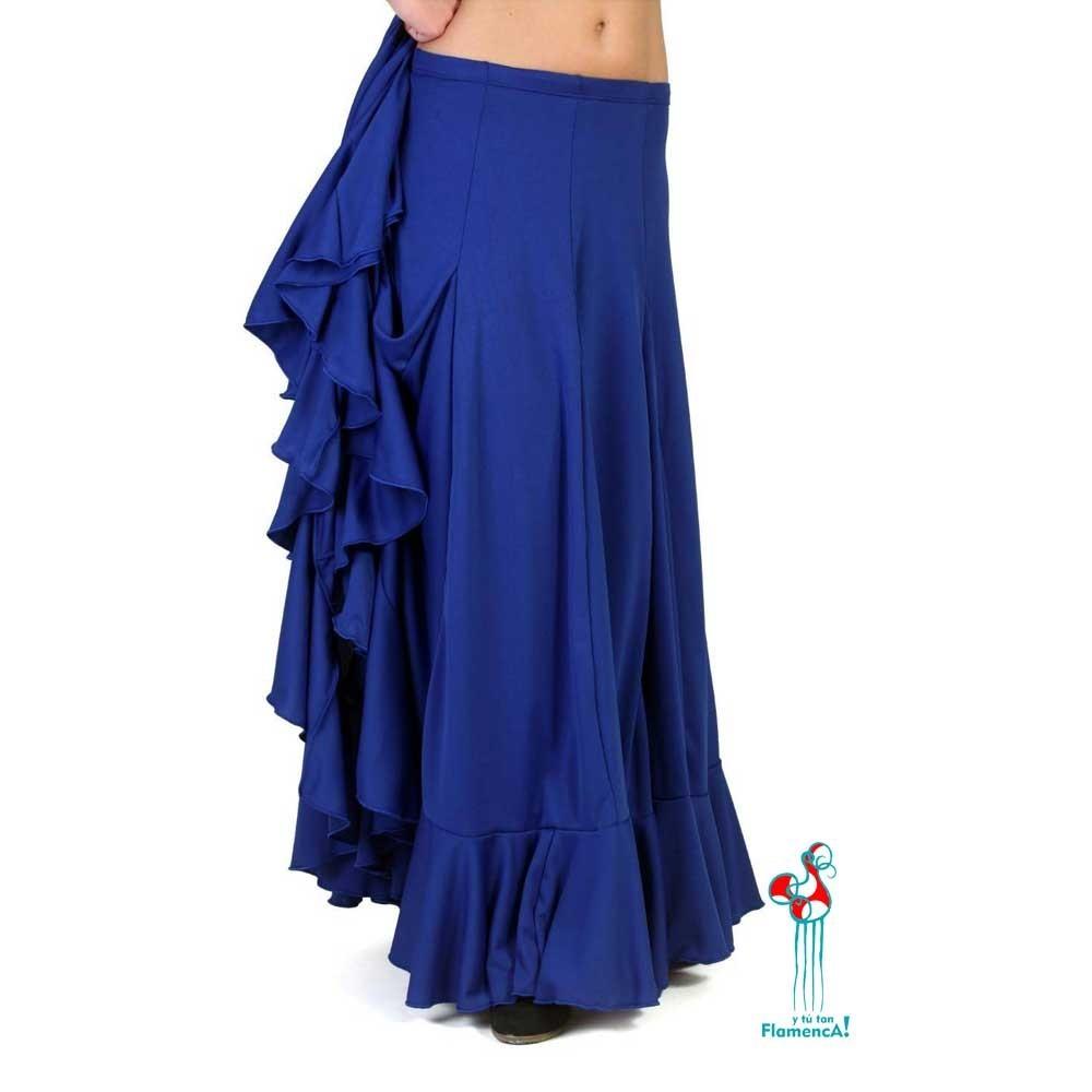 Falda flamenca de baile flamenco de uso profesional y ensayo, modelo calera