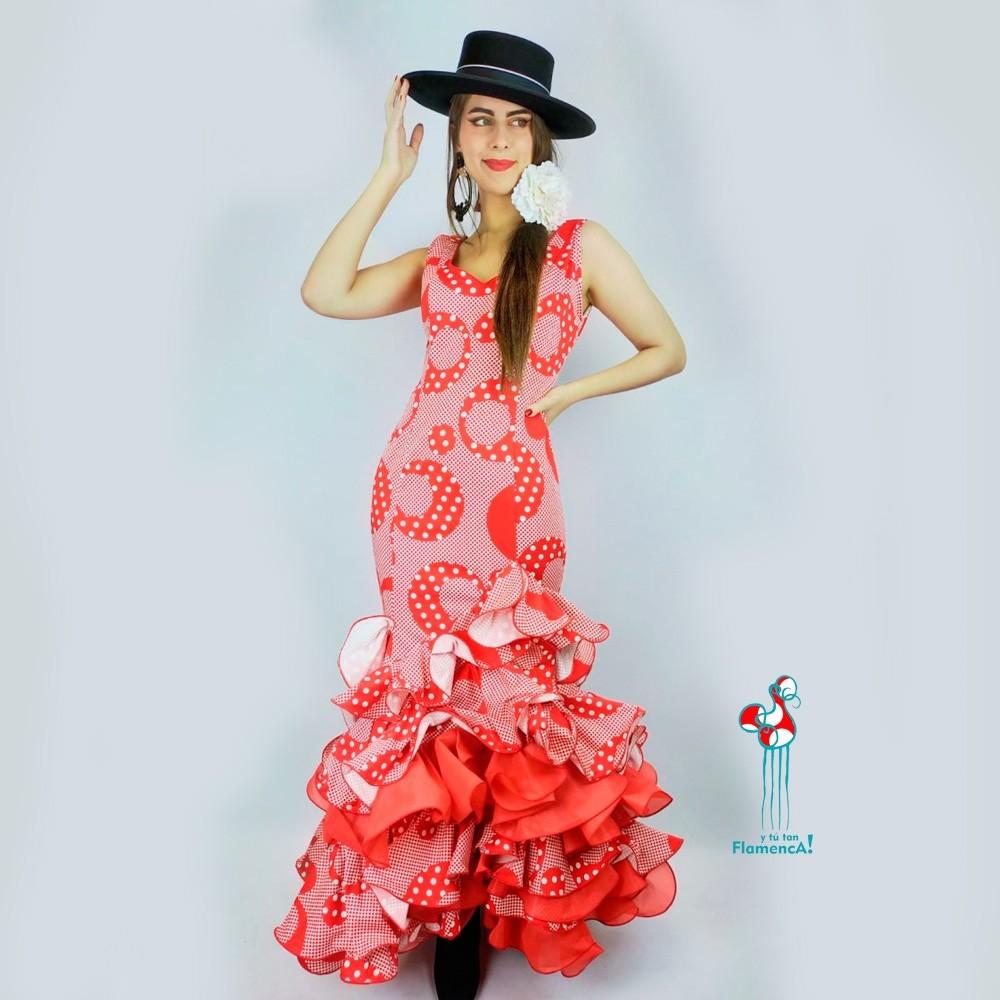 Traje de flamenca outlet modelo Arévalo talla 38