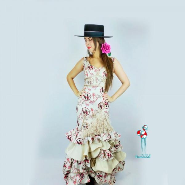 Traje de flamenca outlet modelo Pétalo talla 36