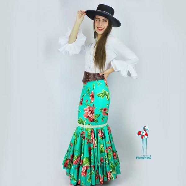 Falda flamenca. Modelo Alegria. Talla 38