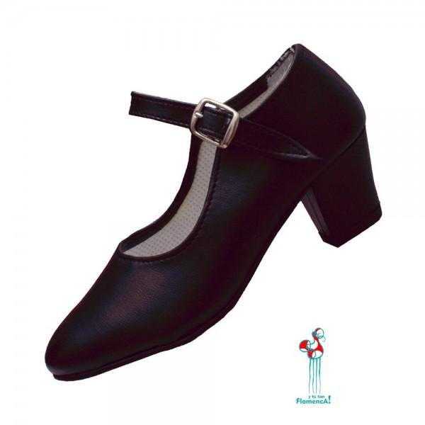 Zapato flamenco negro
