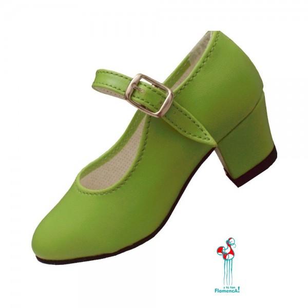 Zapato flamenco verde