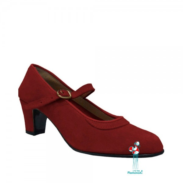 Zapato flamenco amateur granate una correa