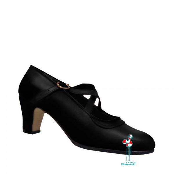 Zapato flamenca piel negro