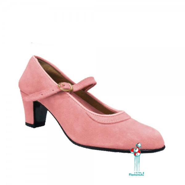 Zapato flamenco amateur rosa