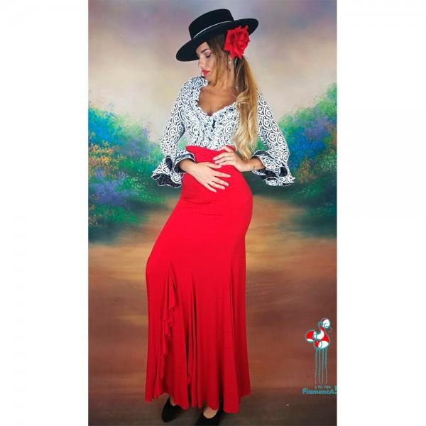 Camisa estampada flamenca manga larga