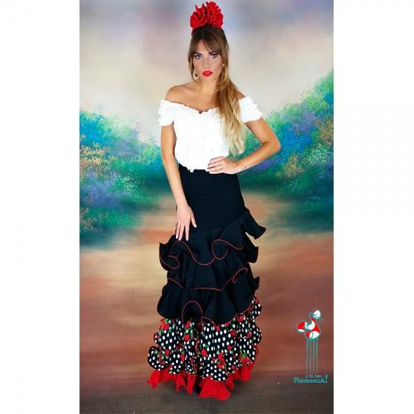 Camisa flamenca blanca