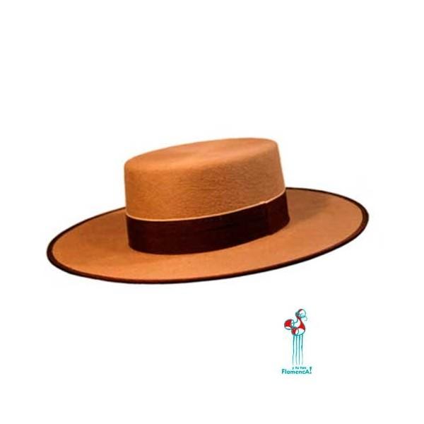 Sombrero cordobés -cámel- adulto